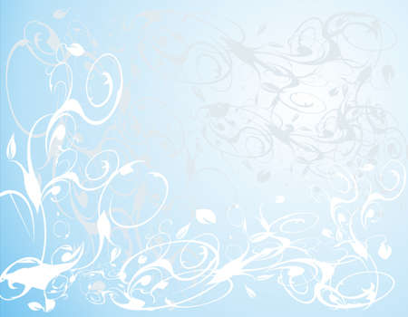 subtlety: decoration in blue Stock Photo