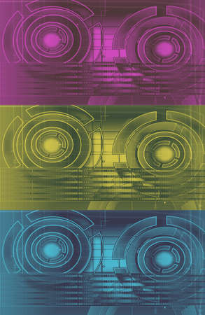 colorful technology circles photo
