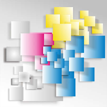 Cyan, Magenta, Yellow squares Stock Photo - 15613825