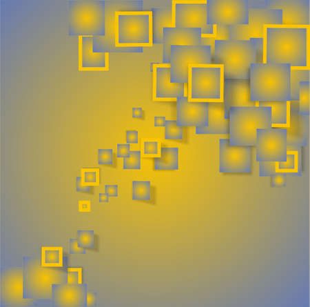 subtlety: background with frames in yellow and gray 3d