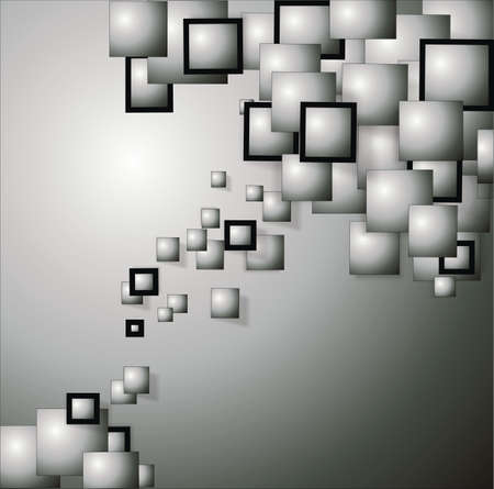 background with frames in black and gray 3d Stock Photo - 15647450
