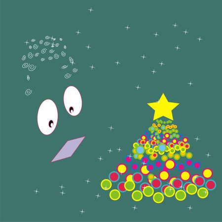 Merry Christmas green Stock Photo - 16162581