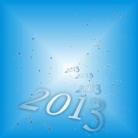 parting merry christmas: nuovo anno 2013 su sfondo blu