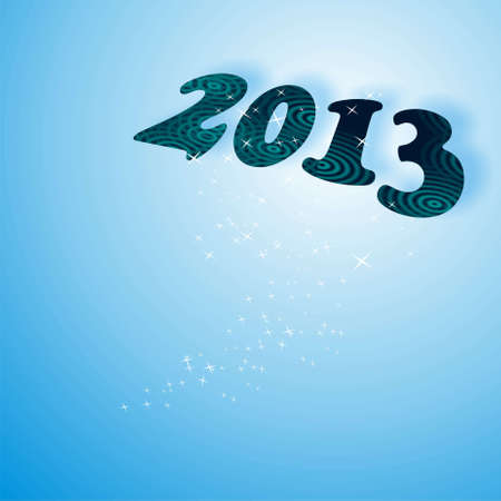 new year,2013 in blue photo