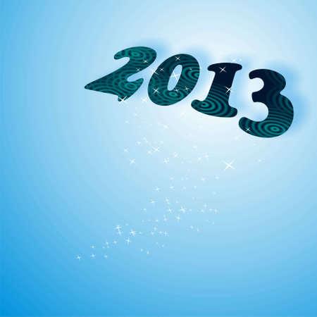 parting merry christmas: nuovo anno, 2013 in blu Archivio Fotografico