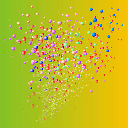 balloons of many colors on a yellow background Stock Photo - 16169910