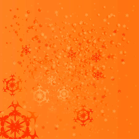 parting merry christmas: orange background