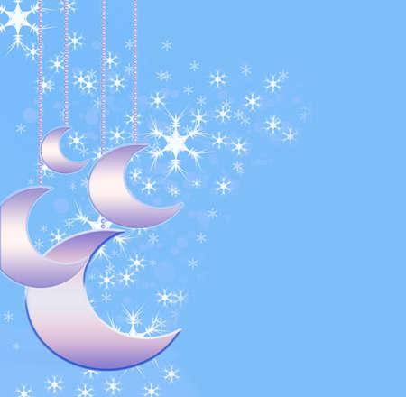 parting merry christmas: Sfondo Natale con lune delicati Archivio Fotografico