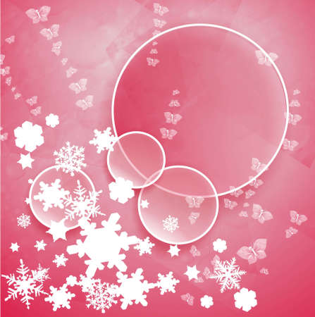 parting merry christmas: snow new year  Stock Photo