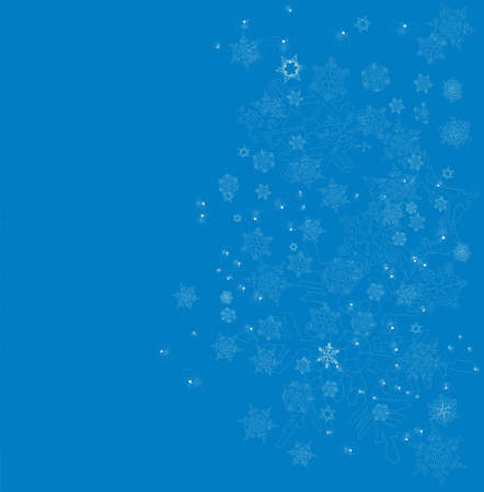 parting merry christmas: blue snow  Stock Photo