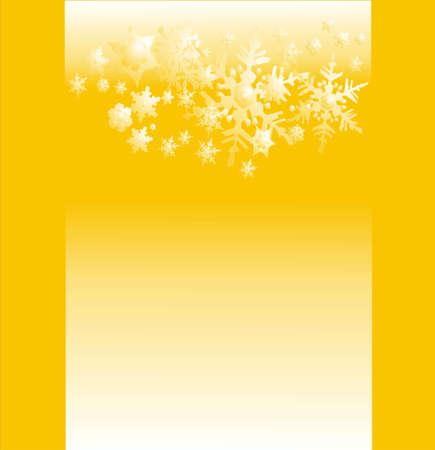 parting merry christmas: bella cartolina di neve sul giallo