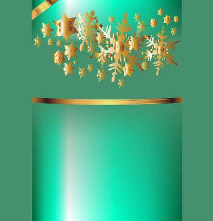 beautiful green and gold gift box Stock Photo - 16302845