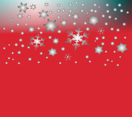 parting merry christmas: beautiful silvery snow background Stock Photo
