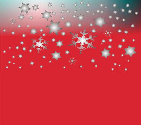 parting merry christmas: bella neve sfondo argenteo