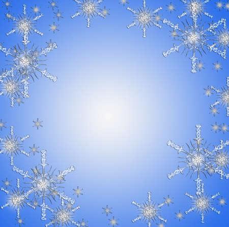 parting merry christmas: Natale con le stelle di neve sul blu