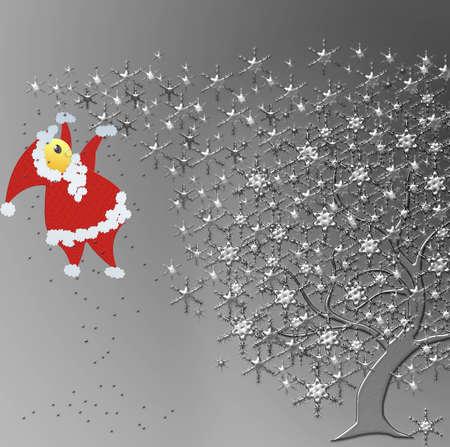 Santa Claus is fat Christmas tree tomb Stock Photo - 16332357