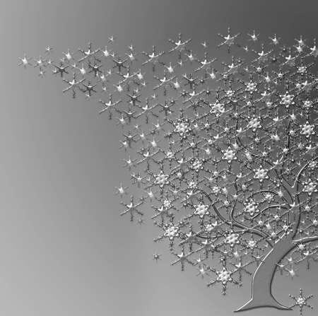 parting merry christmas: albero con stelle piastra