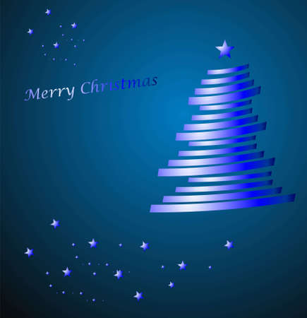 merry chrismas on blue Vector