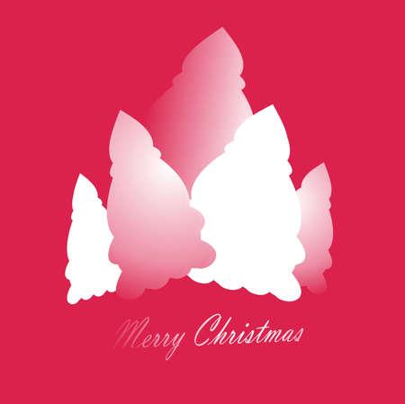 Christmas tree in pink tones