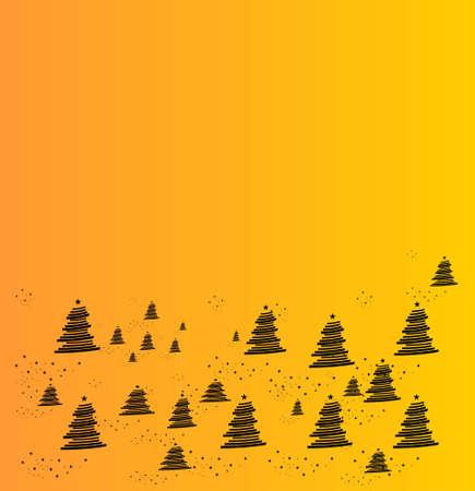 parting merry christmas: albero giallo