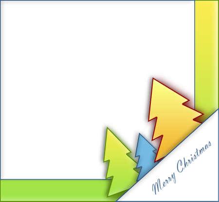 parting merry christmas: Alberi di Natale di carta
