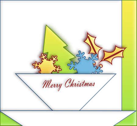 parting merry christmas: Ornamenti di Natale su carta su