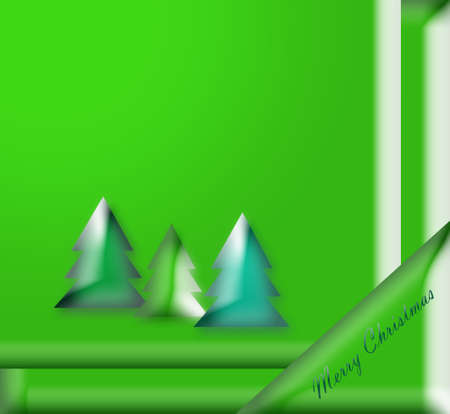 Beautiful Christmas green Stock Photo - 16497553