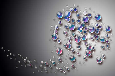 parting merry christmas: bubbles Stock Photo
