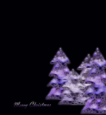 parting merry christmas: merry christmas violet on black background