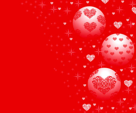 parting merry christmas: Ornamenti di Natale sul rosso