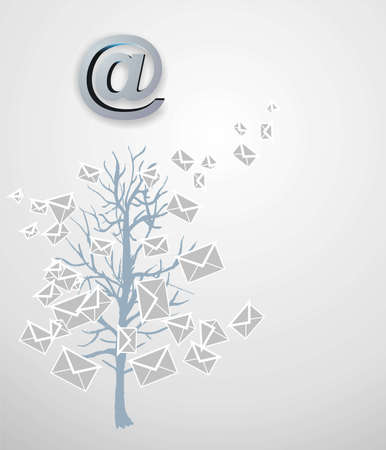 Christmas tree from emails Stock Photo - 16497575