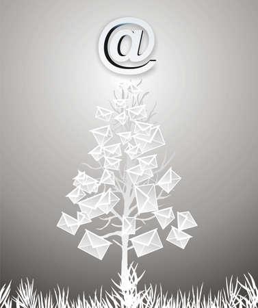parting merry christmas: albero da messaggi di posta elettronica