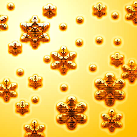 parting merry christmas: gold stars Stock Photo
