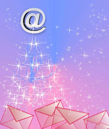 parting merry christmas: Christmas tree from emails