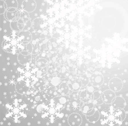 Christmas background on silver Stock Photo