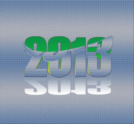 parting off: 2013 metallic sticker