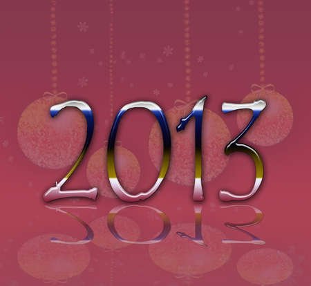 parting off: 2013 metallic Stock Photo