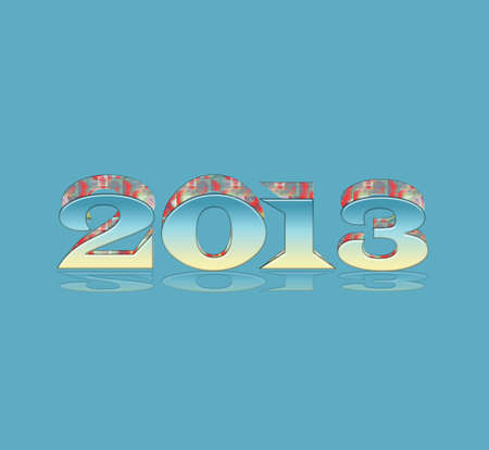 parting off: 2013 sticker Stock Photo