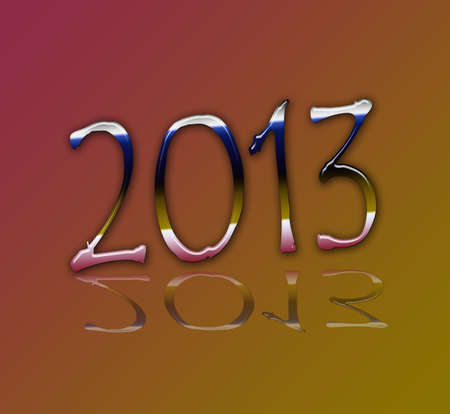 parting off: 2013 metallic color Stock Photo