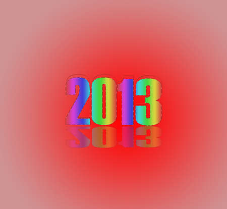 parting merry christmas: 2013 many different colors Stock Photo