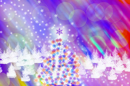 parting merry christmas: Abstract background di Natale