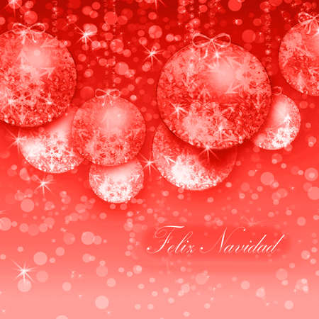 parting merry christmas:  Merry Christmas in red Stock Photo