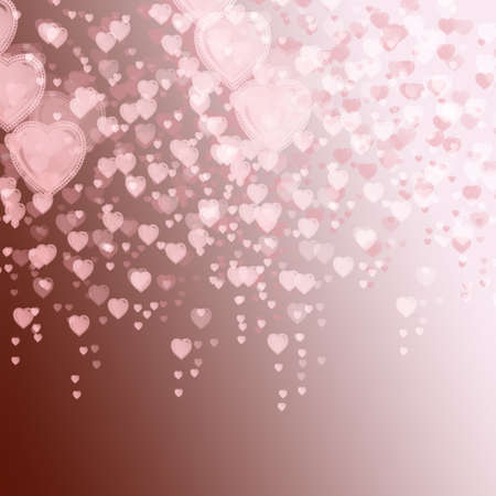 reloaded: Delicate background with shapes of hearts