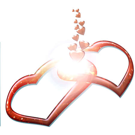 reloaded: two hearts love they give off Stock Photo