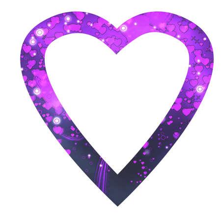 reloaded: Heart violet Stock Photo