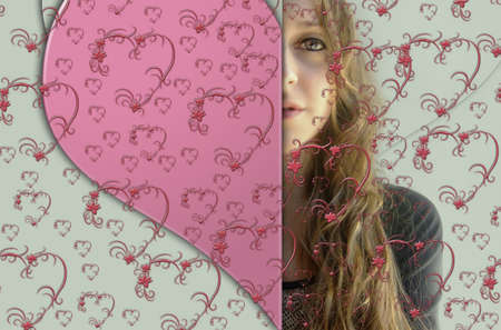 woman behind: woman behind the grating of hearts
