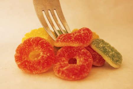 showy:  gummy candies Stock Photo
