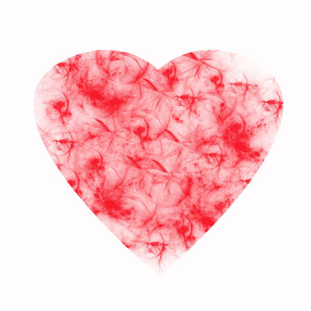 reloaded: beautiful heart on white background Stock Photo