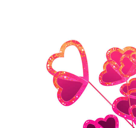 flowers in pink hearts photo