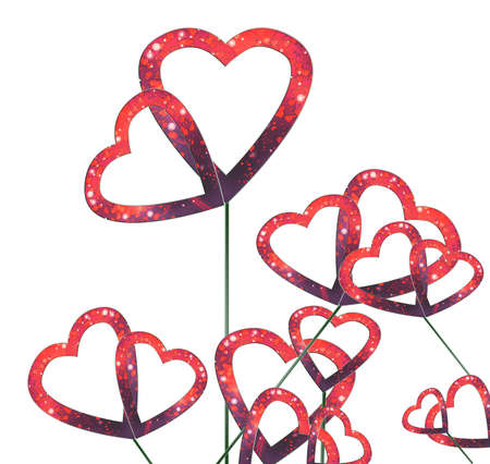 cut hearts background photo